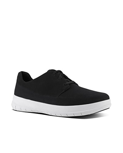 001 Fitflop Sneaker Sporty Black Nero Uomo Pop Canvas fUq8a