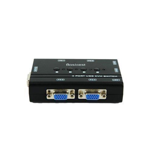 Basicest® BAS2151 Freedom 4 Ports Electronic VGA Switch Box KVM Switch Manual USB KVM by Basicest (Image #4)'