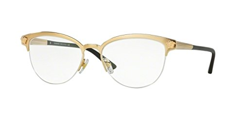 Versace Women's VE1235 Eyeglasses Brushed Gold - Womens Versace Frames