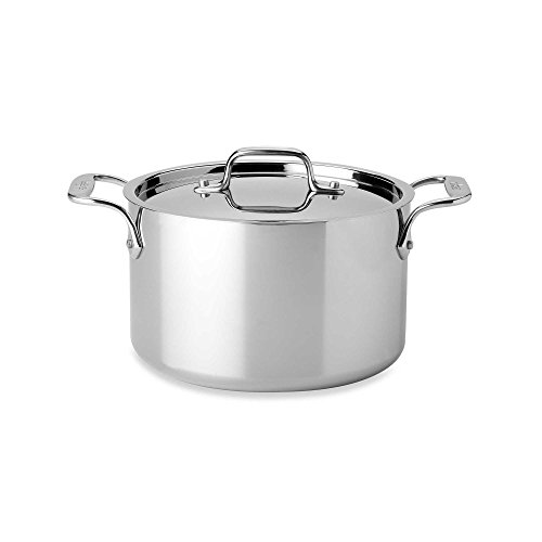 All-Clad 4304 Stainless Steel 3-Ply Bonded Dishwasher Safe Casserole with Lid Cookware, 4-Quart, Silver by All-Clad