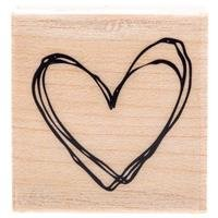 Scribble Heart Rubber StampNew by: CC