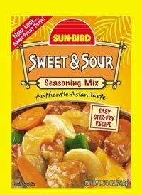 Sunbird Seasoning Mix Sweet Sour 0.87oz (4 Packs)