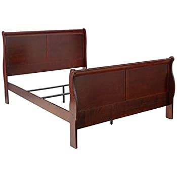 Image of Acme 19520Q Louis Philippe III Queen Bed, Cherry Finish Home and Kitchen