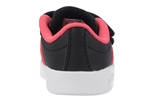adidas VL Court 2.0 CMF I, Zapatillas de Deporte Unisex Niños Negro (Negbas/Ftwbla/Rosrea 000)