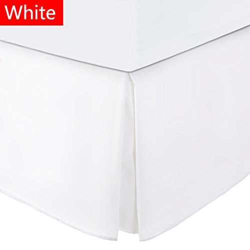 Balichun Bed Skirt Full Size White with 15 Inch Drop Ultra Soft Premium Hotel Quality Hypoallergenic Wrinkle and Fade Resistant