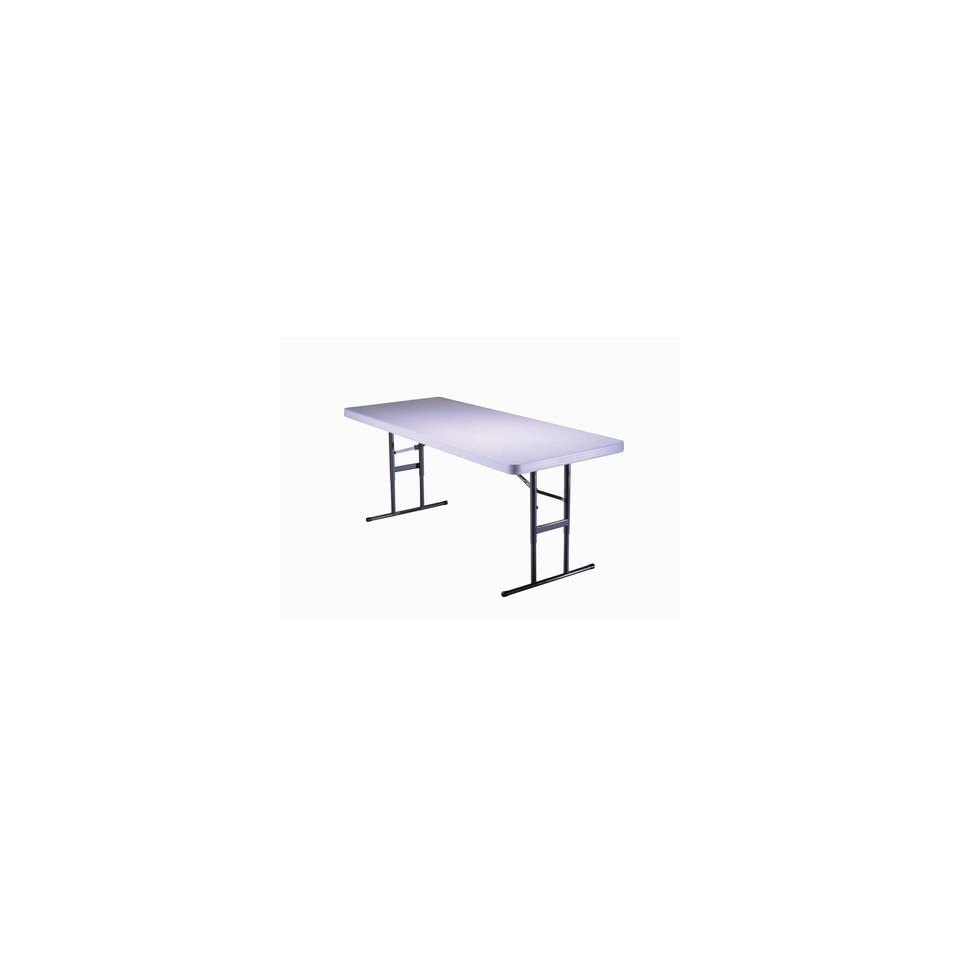 6 Commercial Grade Adjustable Table in Almond