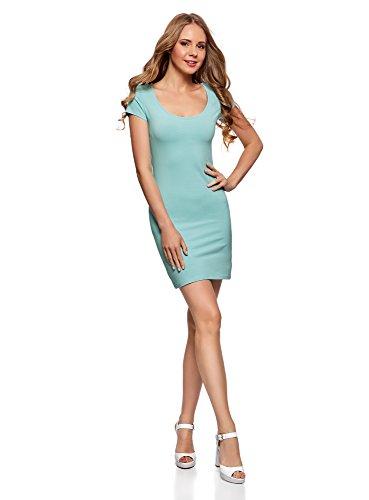 de Lot 7300n 3 oodji Ultra Turquoise Maille Femme Robe en wPxx1XRqY