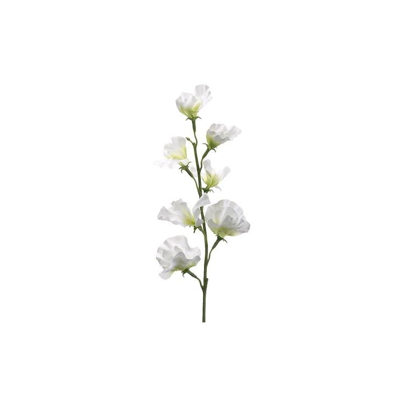 "silk flower arrangements 22"" sweet pea spray cream (pack of 12)"