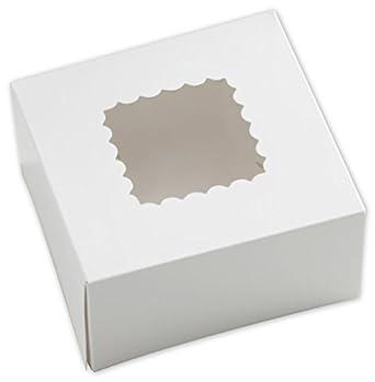 Color blanco cajas de panadería de ventana, 1 pieza, 6 x 6 x 3 cm ...