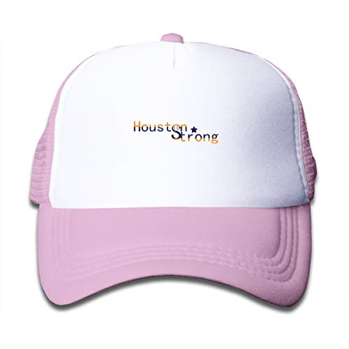Banana King Houston Strong Toddler Baby Boy Girl Baseball Summer Mesh Caps Trucker Hat for Boys Girls Pink]()