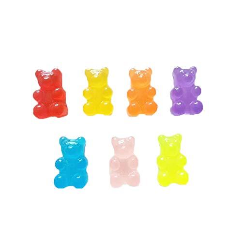 TOOGOO 100Pcs Resin Candy Flatback Cabochon Miniature Qq Gummy Candy Cute Bear Design Resin Sugar Dollhouse DIY from TOOGOO