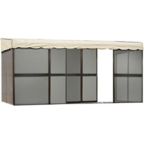 Patio Mate 8 Panel Screen Enclosure 89165 Brown With Almond Roof