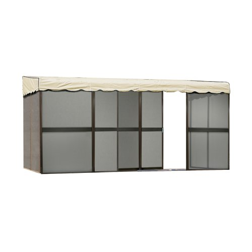 Patio Mate 8-Panel Screen Enclosure 89165, Brown with Almond Roof (Patio Screen Panels)