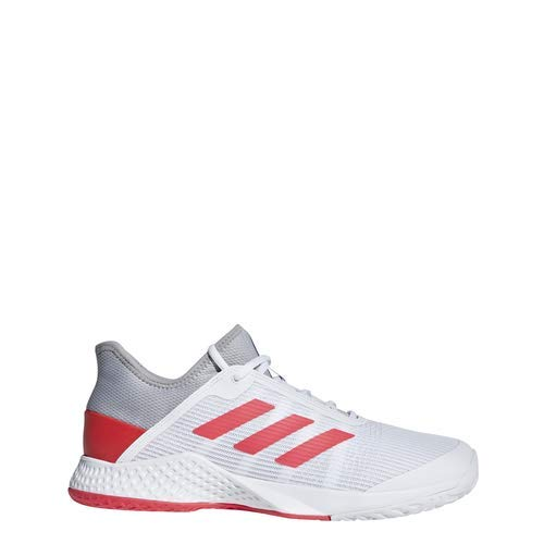 adidas Men's Adizero Club, Light Granite/Shock red/White 11.5 M US