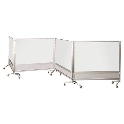 Best-Rite DOC Mobile Whitebooard Room Partition and Display Panel, Double Sided Dura-Rite Markerboard, 6 x 6 Feet (661AG-HH) by Best-Rite