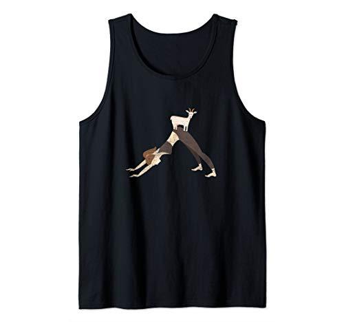 - Cute Goat Yoga Downward Facing Dog Yoga Pose Tank Top