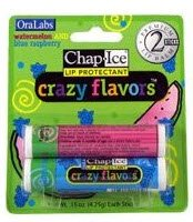 Oralabs ChapIce Crazy Flavors Lip Balm Watermelon and Blue Raspberry 2 ()
