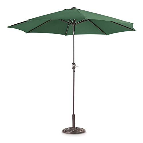 CASTLECREEK 9' Market Patio Umbrella, Hunter Green
