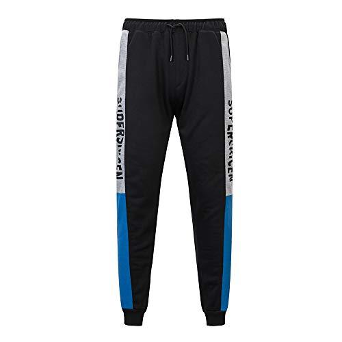 Tasca Sportivi Blu Uomo Somesun Pantaloni Casuale Jeans Stampato Tuta Elegante Felpati lavoro Invernali Sport Formazione Da Lavoro Splicing xAqfxnU