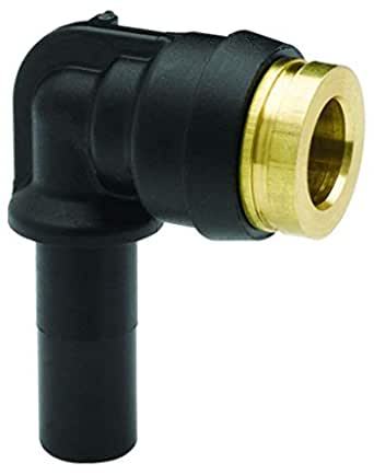 Parker 369PLPX-4-M7 Composite Push-to-Connect Fitting Tube to Pipe Glass Reinforced Nylon 6.6 Push-to-Connect and Metric Extended 90 Degree Elbow 1//4 and M7X1 mm