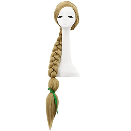 Karlery 47 Inches Long Braided Blonde Ponytails Wig Halloween Costume Wig Anime Cosplay Wig -