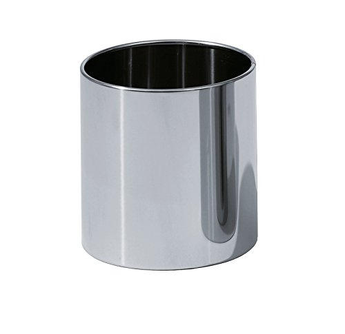 (DWBA Round Open Top Trash Can, Stainless Steel Wastebasket W/O Lid Cover (Polished Chrome) )