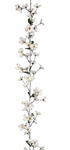 Amazon dogwood silk flower garland in white6 long home kitchen dogwood silk flower garland in white6 long mightylinksfo