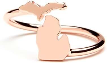 Michigan Ring - Adjustable - Michigan jewelry