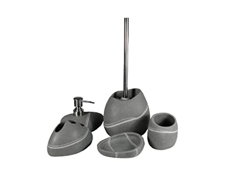 Toilet Accessoires Set : Arosa bathroom set bathroom accessories stone toilet brush soap