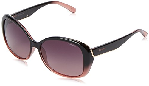 Polaroid Sunglasses Women's Pld4023s Oval Sunglasses, Black Shaded Pink/Burgundy Gradient, 58 - Shaded Sunglasses