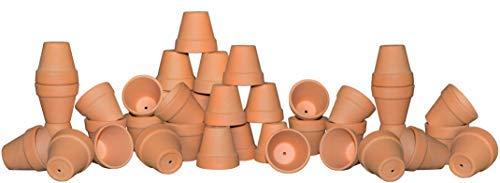My Urban Crafts 40 Pcs - 2.1'' Mini Clay Pots Small Terracotta Pots Ceramic Pottery Planter Terra Cotta Flower Pot Succulents Nursery Pots Great Window Boxes, Cactus Plants, Crafts, Wedding Favors