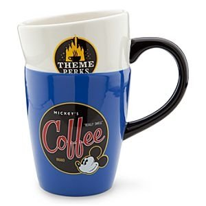 """Disney Theme Parks Exclusive Mickey Mouse's """"Really Swell"""" Stacked Coffee Mug Cup"""
