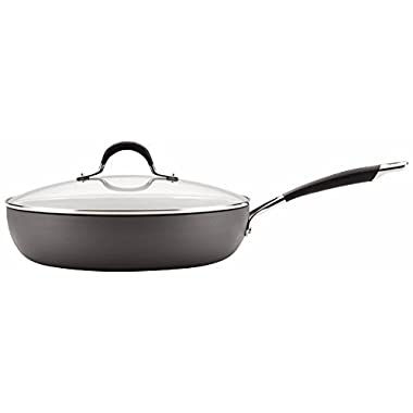 Circulon Momentum Hard-Anodized Nonstick 12-Inch Covered Deep Skillet - Gray