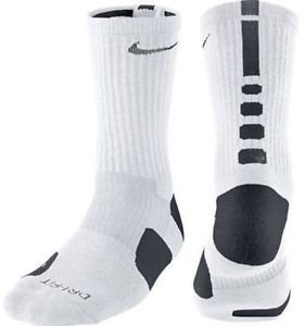 Nike Elite Basketball Crew Socks Black & White (Small)