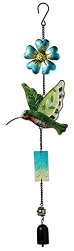 Sunset Vista Designs Metal and Colored Glass Hummingbird Garland