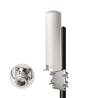 Bingfu High Gain 10dBi Wide Band 4G LTE Cellular Omni Directional Antenna Outdoor Fixed Wall Pole Mount Antenna Compatible with 4G LTE Mobile Cell Phone Signal Booster Repeater Cellular Amplifier
