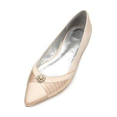 Rubí amp;Amp; Las Satin Bowknot Azul US10 UK8 EU42 Confort Vestido Heelivory RTRY Plana Noche Shoes 5 Mujeres'S Rhinestone Boda De CN43 5 Verano Primavera Champán Wedding FqdXwU7