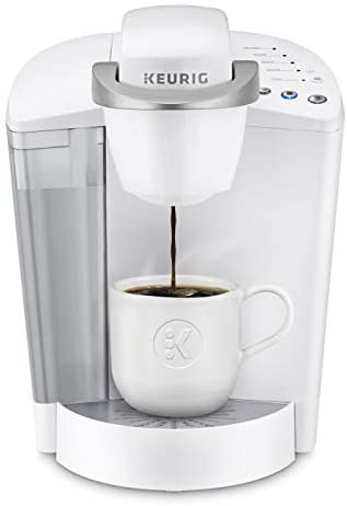 Keurig K-Classic Coffee Maker, Single Serve K-Cup Pod Coffee Brewer, 6 to 10 oz. Brew Sizes, White