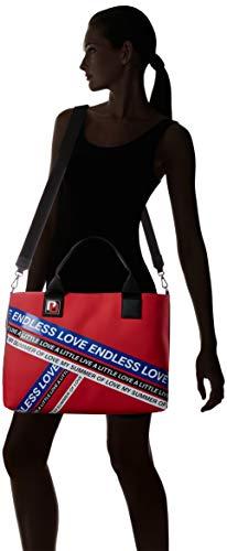 Donna rosso Cm Shopping stampa 15x42x39 Pinko L Multicolore Borsa w Mano Talento H Lucida A blu Gommato X 8qaRFwU