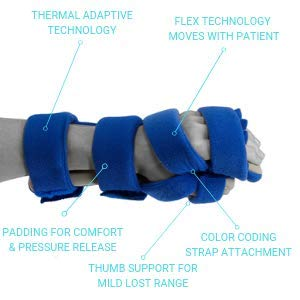 Restorative Medical Hand Brace | Resting Hand & Wrist Night Splint w/Flo-Form - Corrective, Supportive Brace for Comfort & Pain Relief by Restorative Medical (Image #1)