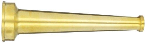 Dixon Valve & Coupling BN25F Brass Fire Equipment, Plain Hose Nozzle, 2-1/2'' NST (NH), 12'' Length, 1'' Orifice by Dixon Valve & Coupling (Image #2)