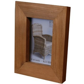 Design Fabrics Photo Frame - Picture Frame Massif Teak Wood brown (9'' x 7'' x 2'')