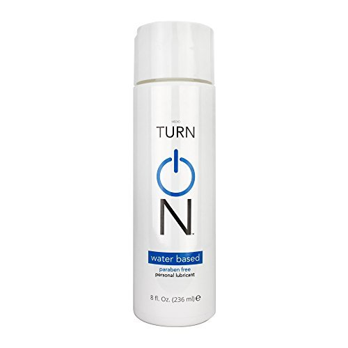 Turn On Personal Lubricant, Water Based Sex Lube, Paraben Free Adult Lubricant for Sensitive Skin (8 oz)