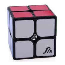 Brand New F/S Fangshi Funs Shi Shuang 2X2X2 Magic Cube (50Mm) Educational Toy Special Toys Challenging^Black.