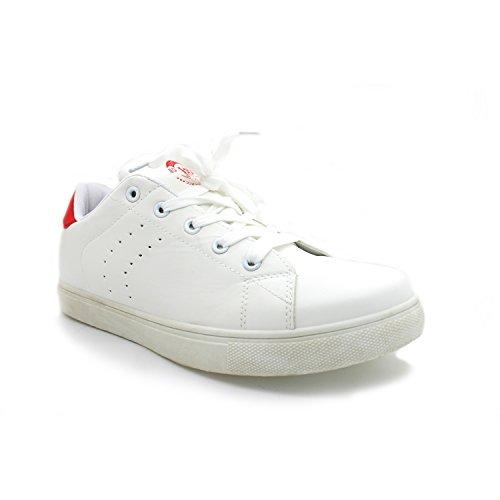 Zapato XTI blanco - rojo