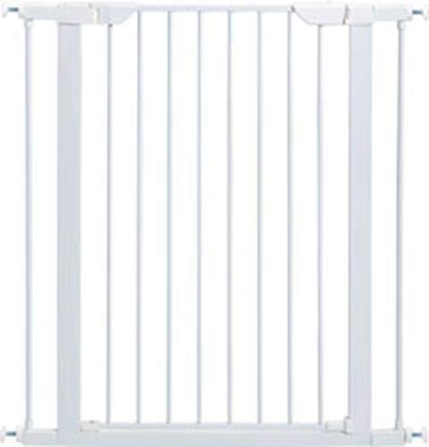 Pet Gate | 39' High Walk-thru Steel Pet Gate by 29' to 38' Wide in Soft White w/ Glow Frame, X-Tall