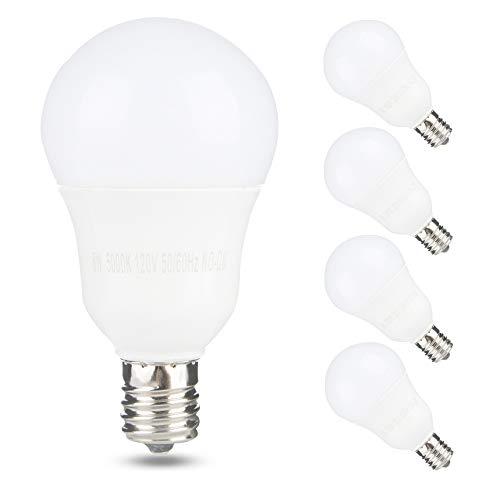 E17 Globe Light Bulb, 6W 60W Equivalent, 5000K Daylight, 600LM,Slender G14 LED Bulbs for Ceiling Fan, Chandelier Lighting, Not Dimmable, Pack of 4