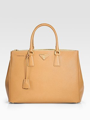 899197ef9aab Image Unavailable. Image not available for. Color: Prada Saffiano Lux  Double-Zip Tote Bag ...