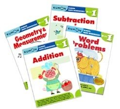 Kumon Grade 1 Math workbooks (4 books) -