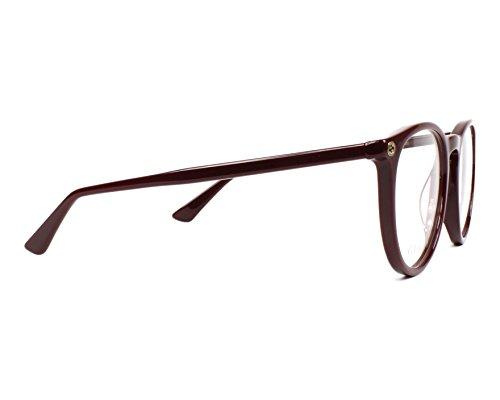 be8e1d771aa11b Gucci - Monture de lunettes - Femme Rouge bordeaux 50 mm  Amazon.fr   Vêtements et accessoires